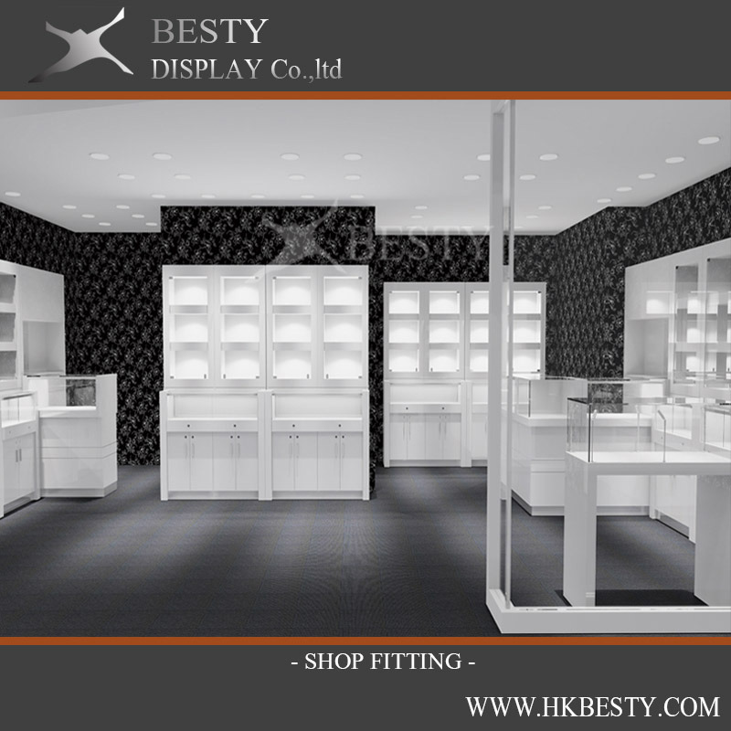 Jewelry Retail Store Display Showcases Kiosks