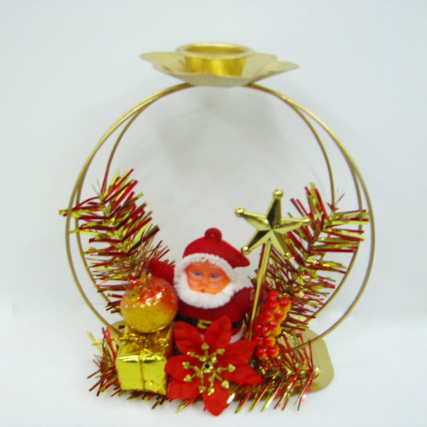 China christmas candle holder fw8549 china christmas for Christmas candle displays