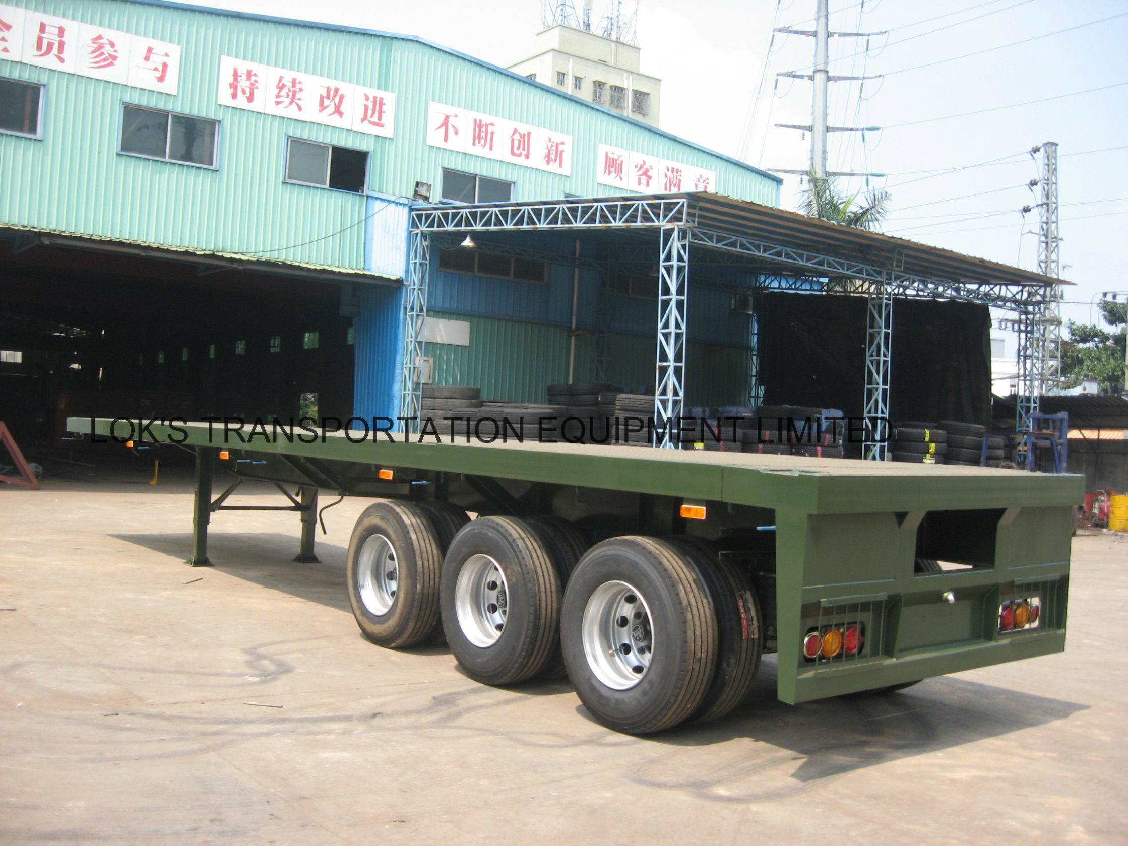 40 Feet 3axles Flatbed Semi Trailer