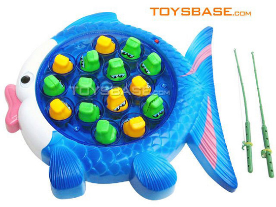 Fish Game Toy : China electrical toy electric fishing game with