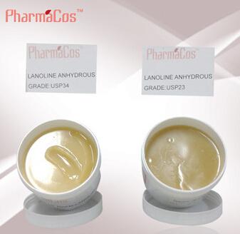 Pharmaceutical Grade USP 23/ USP 34 Grade Lanolin Anhydrous for Cosmetic Grade
