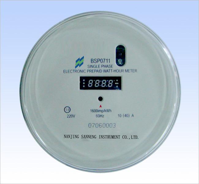 Watt Hour Meter : A single phase static watt hour meter dds round