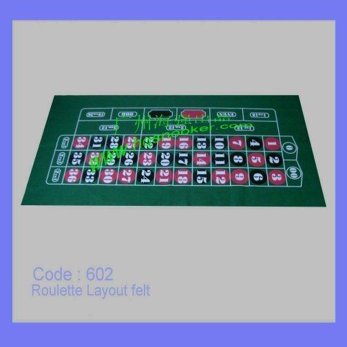 Roulette table felt layout
