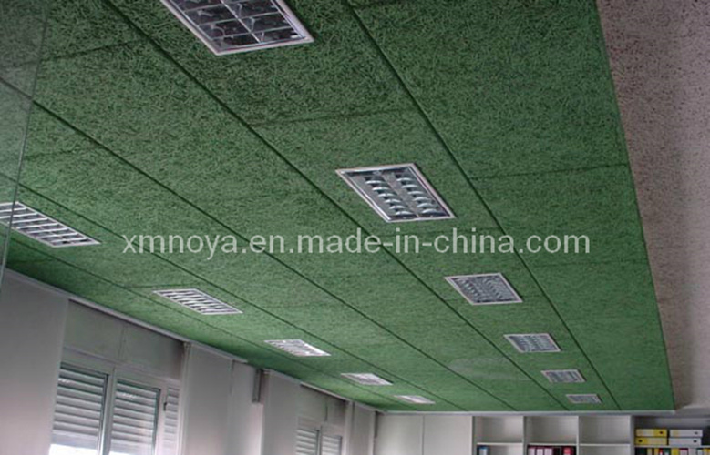Ceiling Decoration Acoustic Green Wood Wool Cement Board