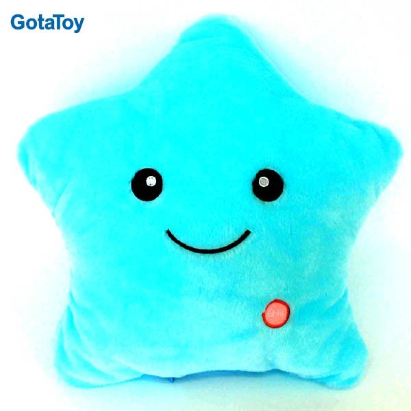 New Custom Plush Star Shape Cushion Pillow with LED Light
