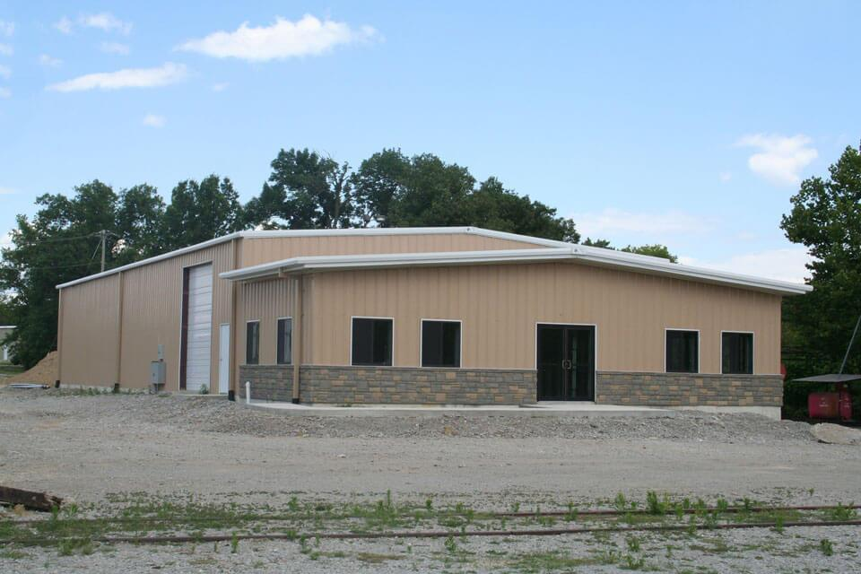 Large Span Prefabricated Steel Structure Warehouse Shed for Cube Suger