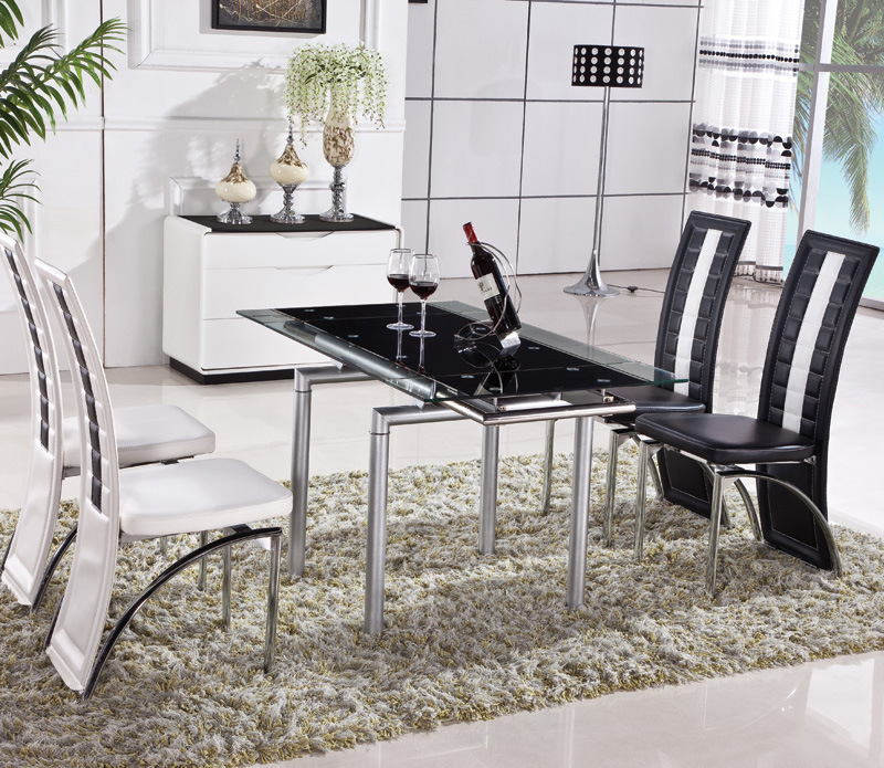 Oil Painted Tempered Glass Dining Table (ET20)