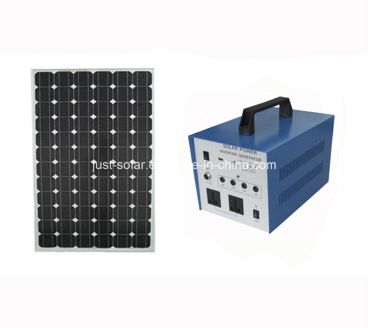 80W Solar AC Power System for Poor Electricity Area with Pure Sine Wave Inverter