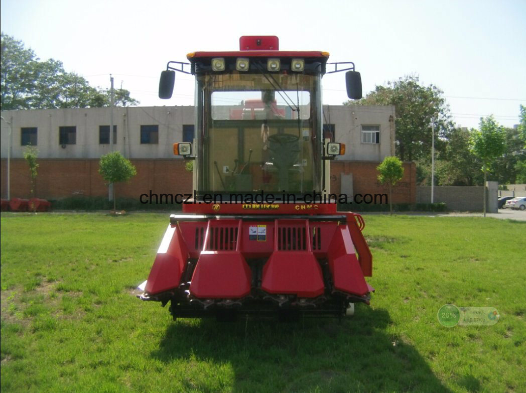 Three Rows Picker and Peeling Mini Corn Combine Harvester