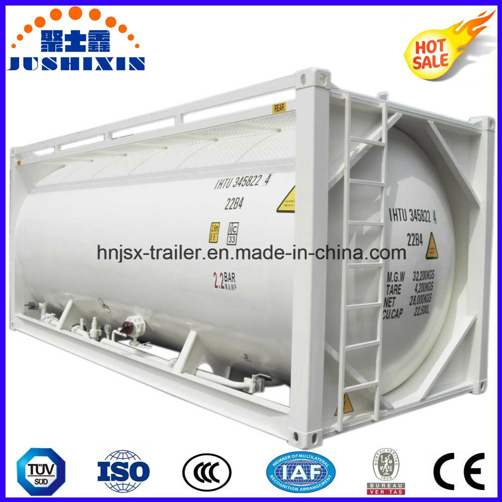 40FT 20FT 22.5cbm ISO Powder Tank Container 20FT Bulk Container/Bulk Coal Tank Container