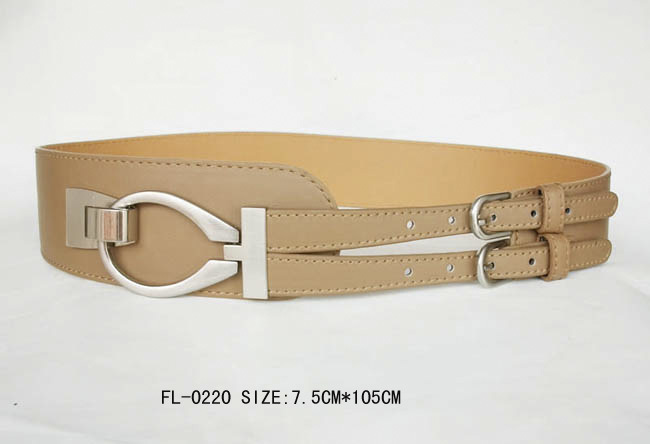 Ladies Fashion Belt with Double Buckle Fl-0220