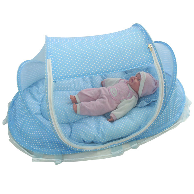 Lid Shape Baby Mosquito Net Cover Simple and Practical Pest Control Pillow Cotton Pad