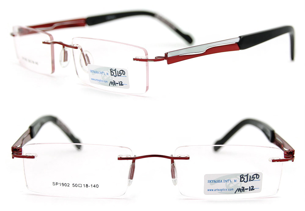 Glasses Frame Styles : China 2012 Latest Styles Eyeglasses Rimless Metal Glasses ...