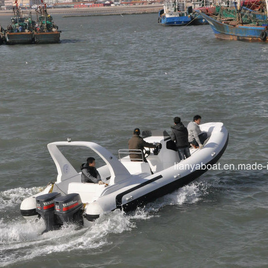 Liya 7.5m Fiberglass Inflatable Boats China Large Yacht for Sale