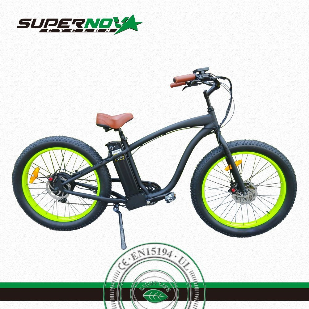 Ce Fat Tyre Lithium Electric Bike/Bicycle/Ebike with 25km/H
