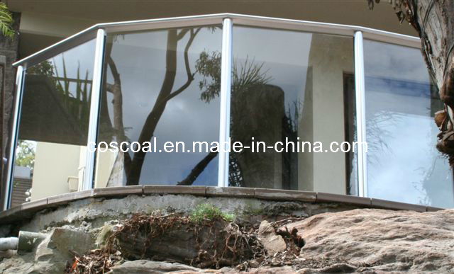 Aluminium Railing with Glass for Housing