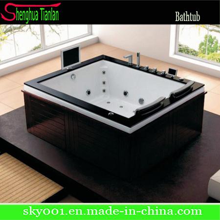 New Hot Acrylic Corner Whirlpool Massage Bath Tub (TL-329)