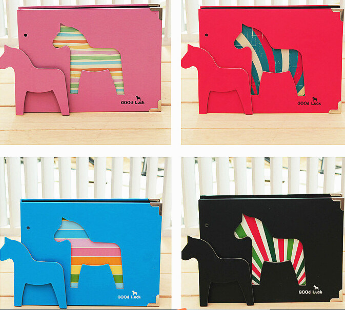 2015 Photo Albums with Die Cutting Cartoon Horse