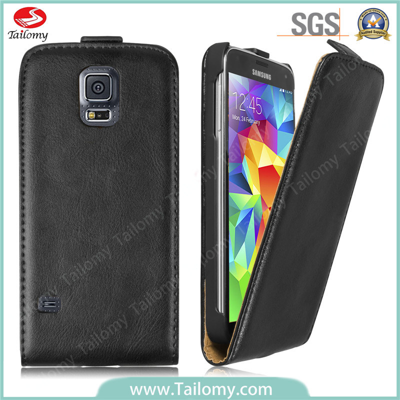 Korean Style Genuine Leather Flip/Mobile Cover for Samsung Galaxy S5