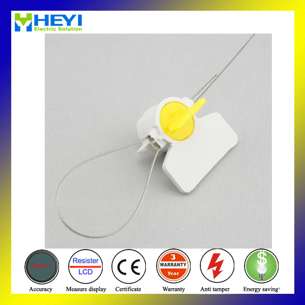 Plastic Meter Seal with 8 Inch Stainless Wire Bar Code Protection Tamper