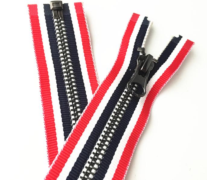 Garment Metal Zipper Colorful Design Tape