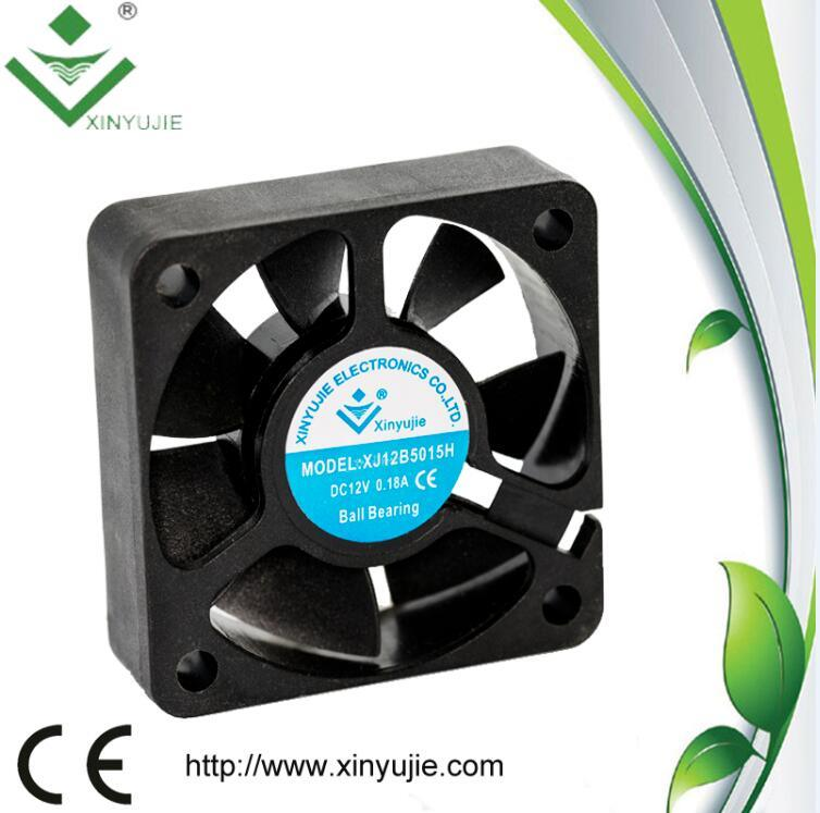 Shenzhen Brushless DC Fan 50mm 5015 12V 24V DC Axial Fan 50X50X15mm