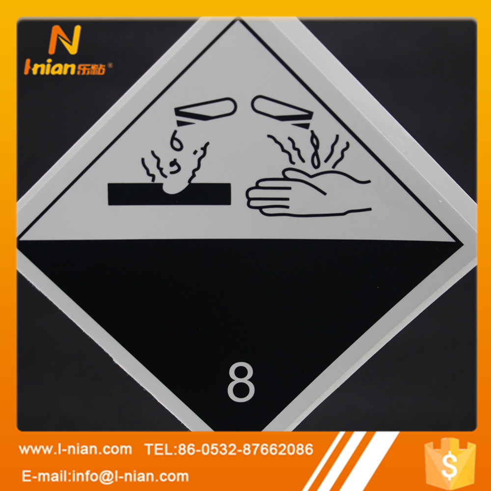 Durable Safety Warning Sign Toxic Warning Label