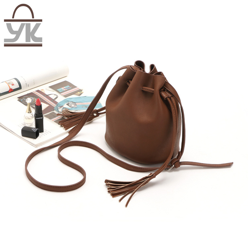 Fashion Leisure PU Leather Ladies Shoulder Bucket Bag