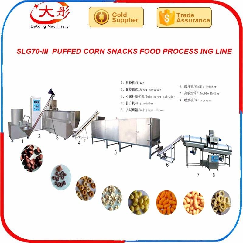 Puffed Corn Snacks Food Extrusion Machine
