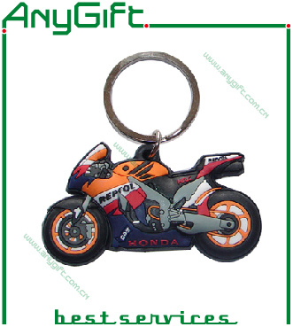 3D Soft PVC Keyring with Customized Shape and Logo