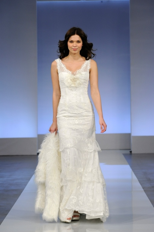 robe 2013 de mariage blanche de v encolure de longueur de
