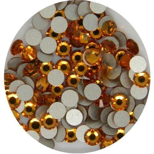 1440PCS Crystal Flatback Rhinestones in Supreme Quality - Light Orange/ Topaz Ss12 (3.0mm)