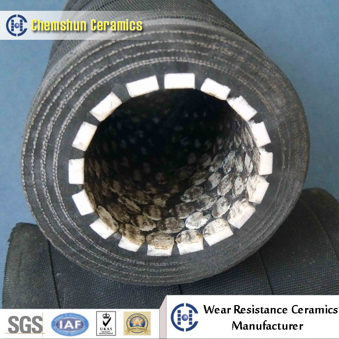 Ceramic Lined Rubber Hose Pipe with Wear Resistant Cylinder