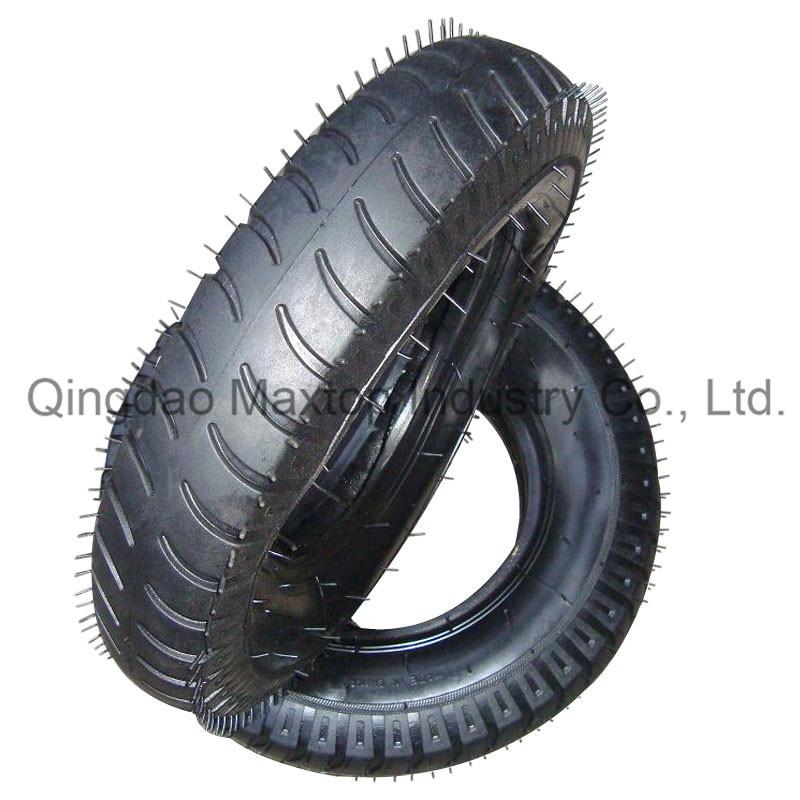 Air Rubber Wheel Tyre/ Wheelbarrow Tyre with Reach PAHs Certificate