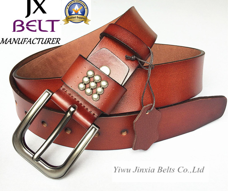 Man′s Split Leather Belt