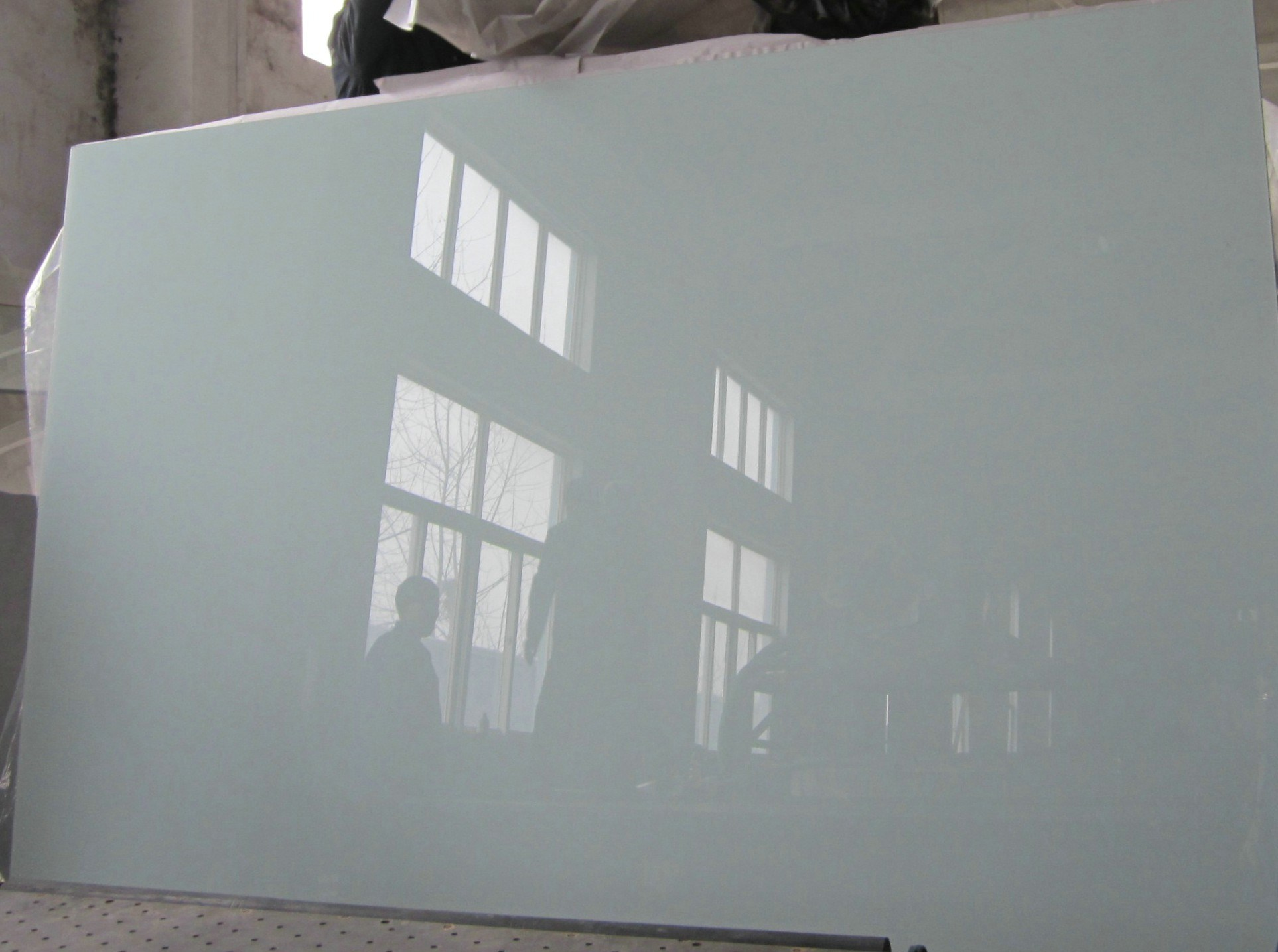 China white painted glass back painted glass lacquered for Back painted glass designs for wardrobe