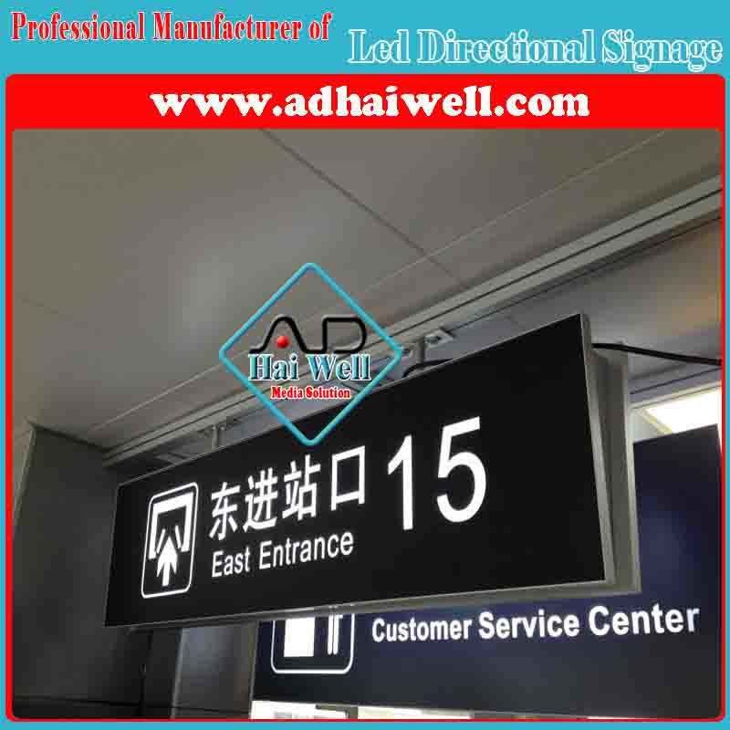 Airport Hanging LED Direction Signage Light Box Display