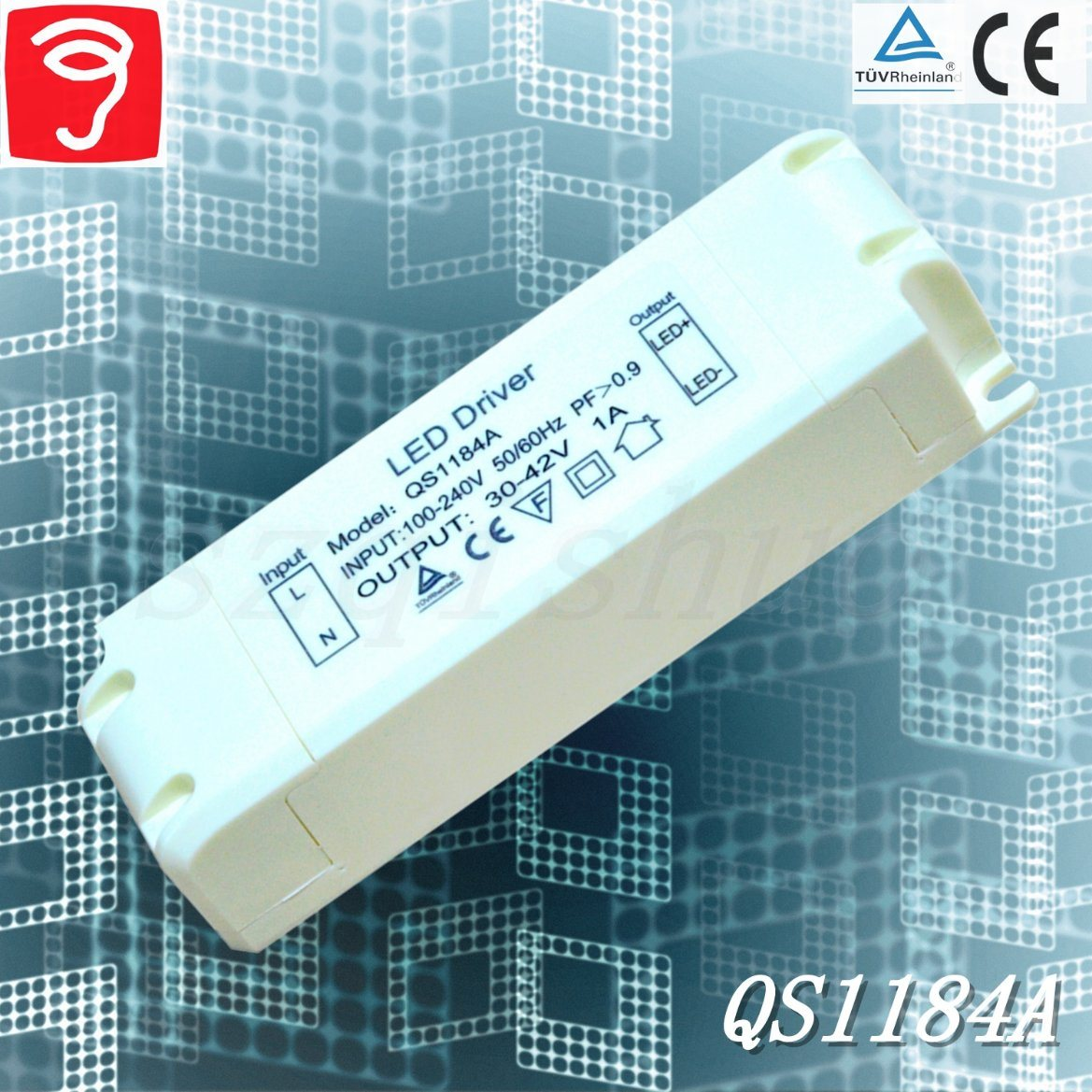 34-45W Silm External Full Voltage Isolated LED Driver with Ce TUV QS1184A