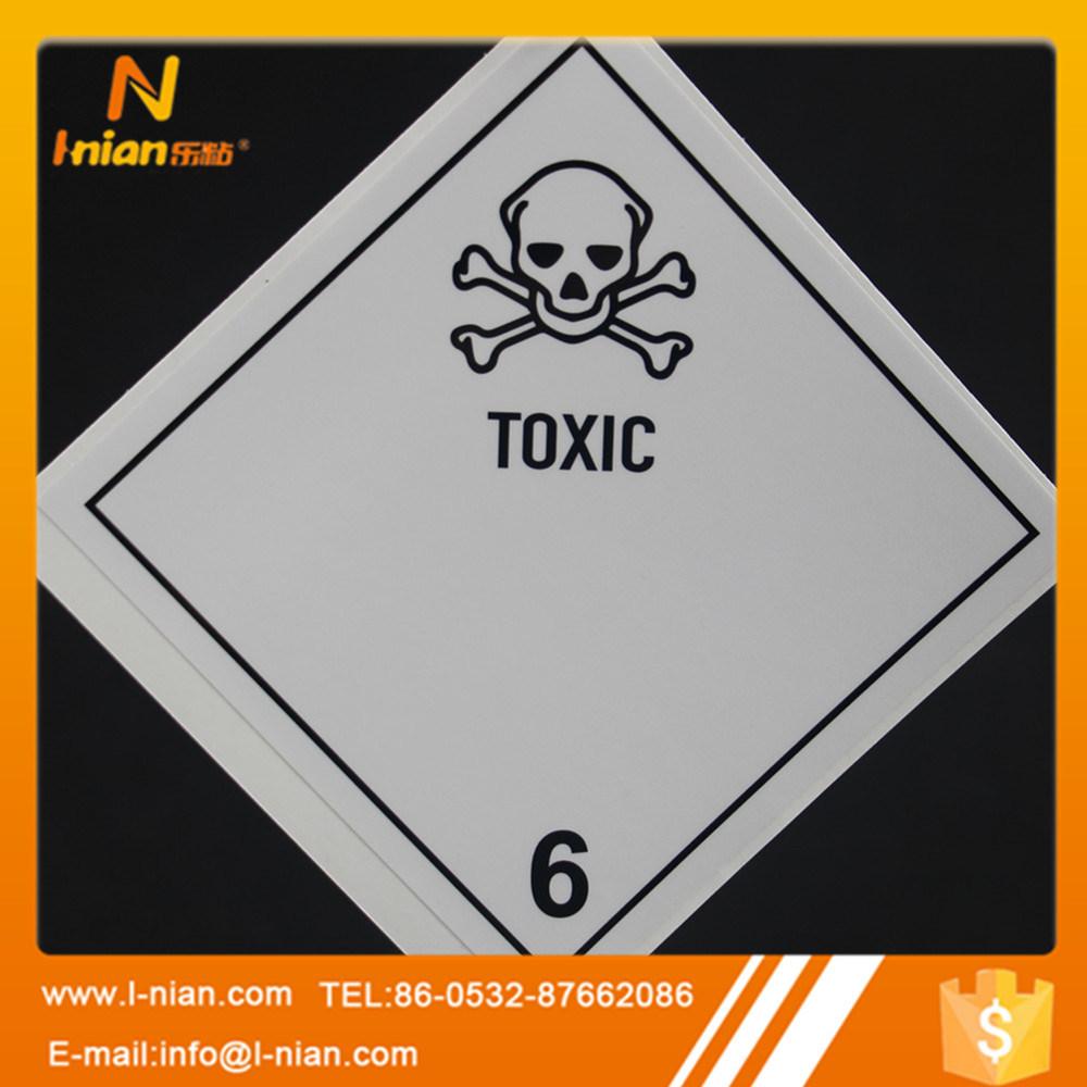 Durable Safety Warning Sign Toxic Warning Label