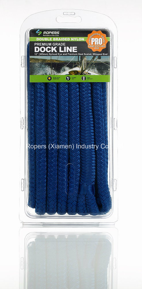 "3/4""X 20′ N21c Dock Line Ropes for Dock/Anchor Applications/Nylon Rope"