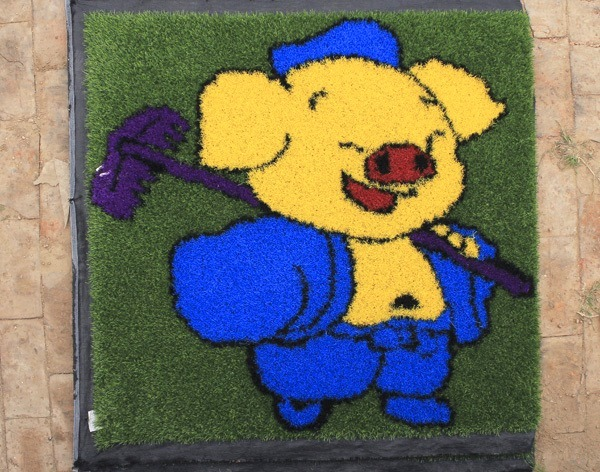 Artificial Turf with Colorful Design