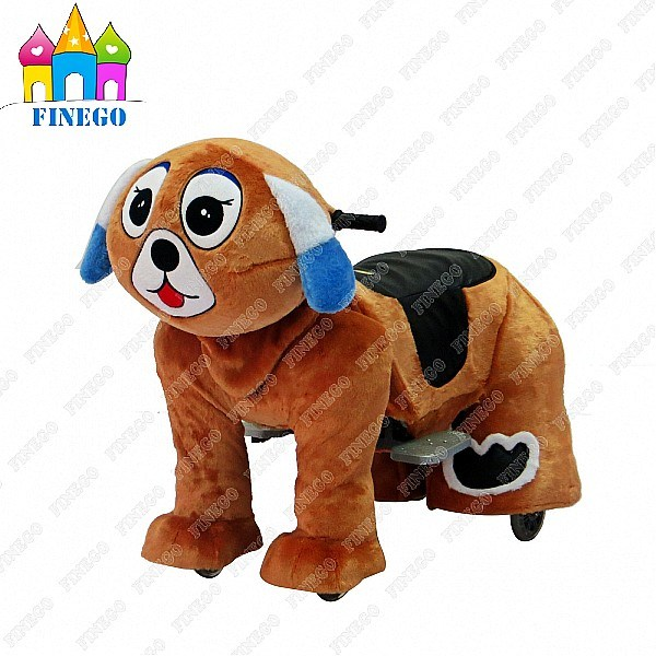Plush Dog Fun Kiddie Rides Zippy Animal Walking Car for Shopping Center