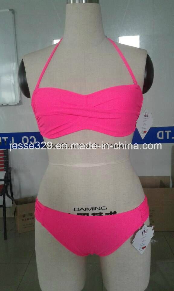 Sexy Ladies Two-Piece Twisted Bikini Swimwear (QG-4040M)
