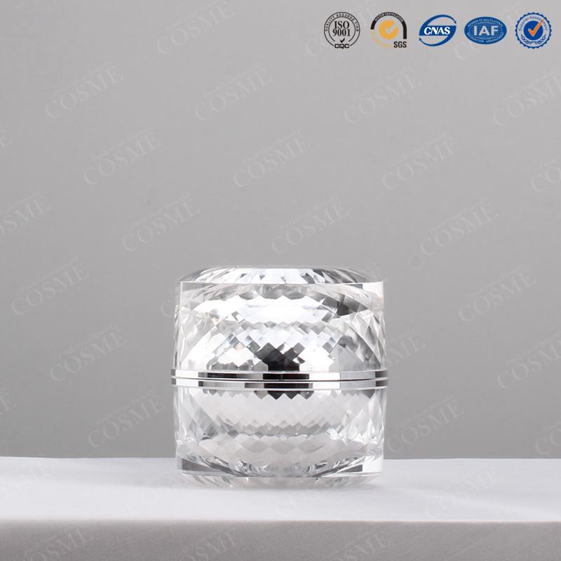 15ml 30ml 60ml 120ml Round Plastic Acrylic Luxury Cosmetic Cream Lotion Pump Bottle and Jar