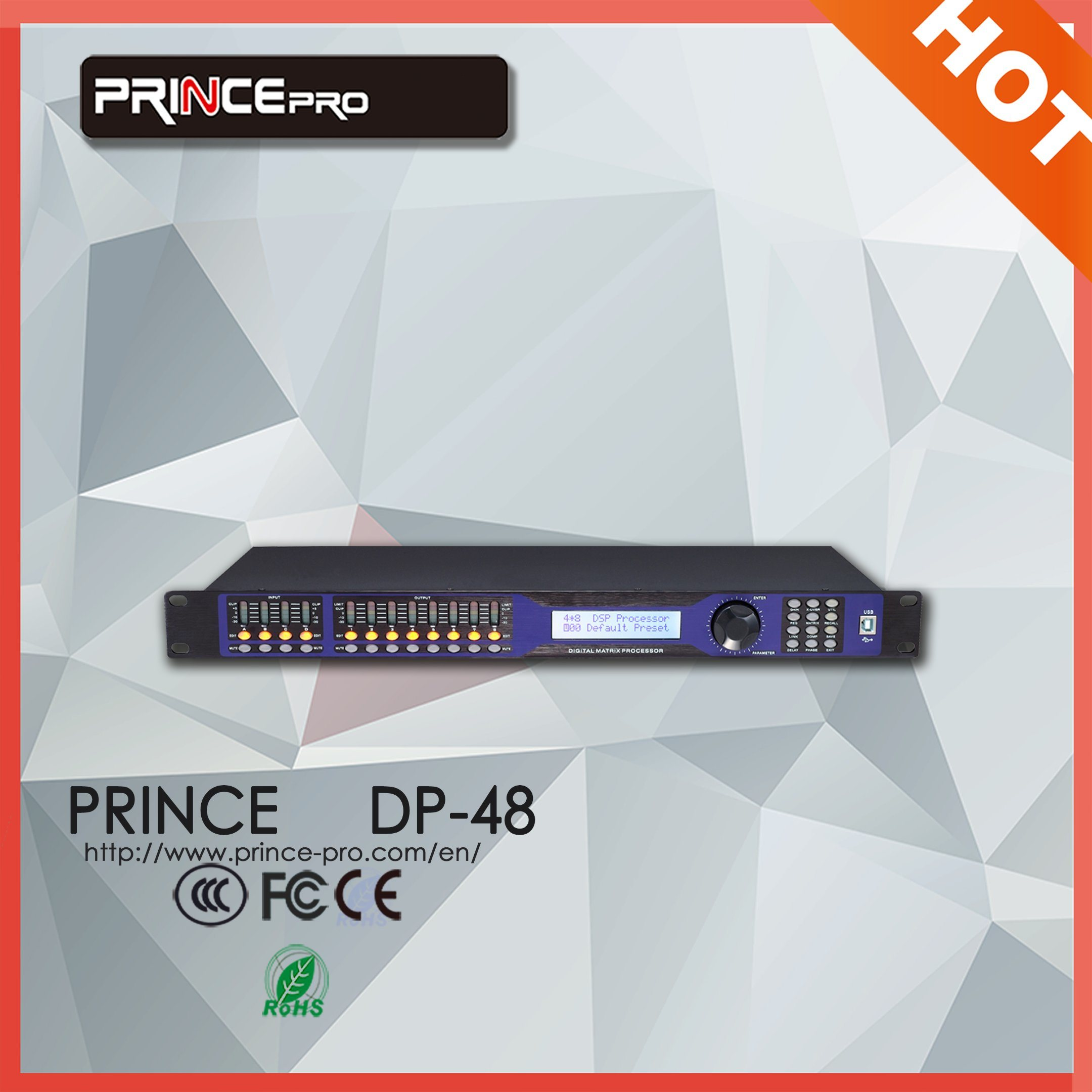4 in X 8 out Professional Audio Digital Processor