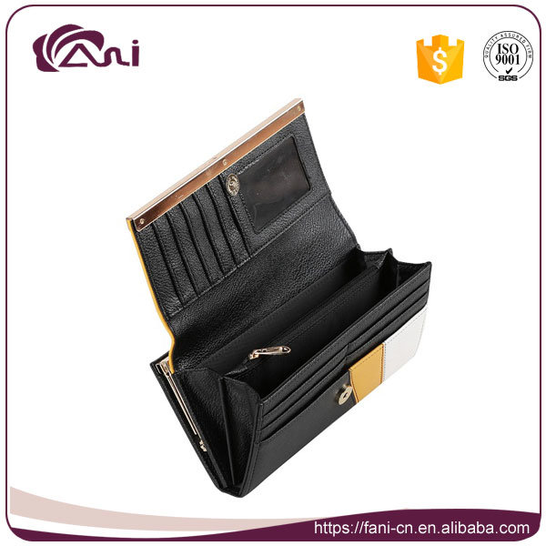 Fani OEM Girl Ladies Leather Wallet Credit Card Holder Slim Wallet