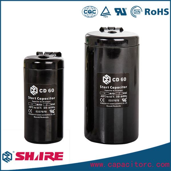 CD60 Motor Starting Capacitors 150UF 200UF 250UF - Bakelite Shell
