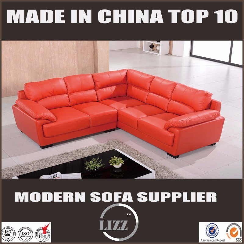 Hot Sale Traditional Sectional Leather Sofa for Living Room