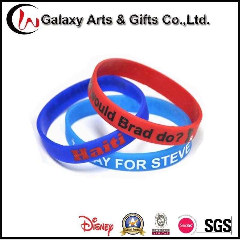 Custom Fashion Promotional Gifts Silicone Wristband Bracelet