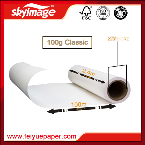 Premium 100GSM Fast Dry Sublimation Fabric Transfer Paper for Digital Printing